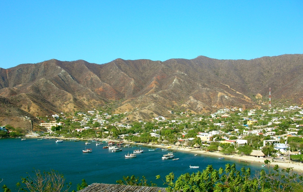view over Taganga, Colombia