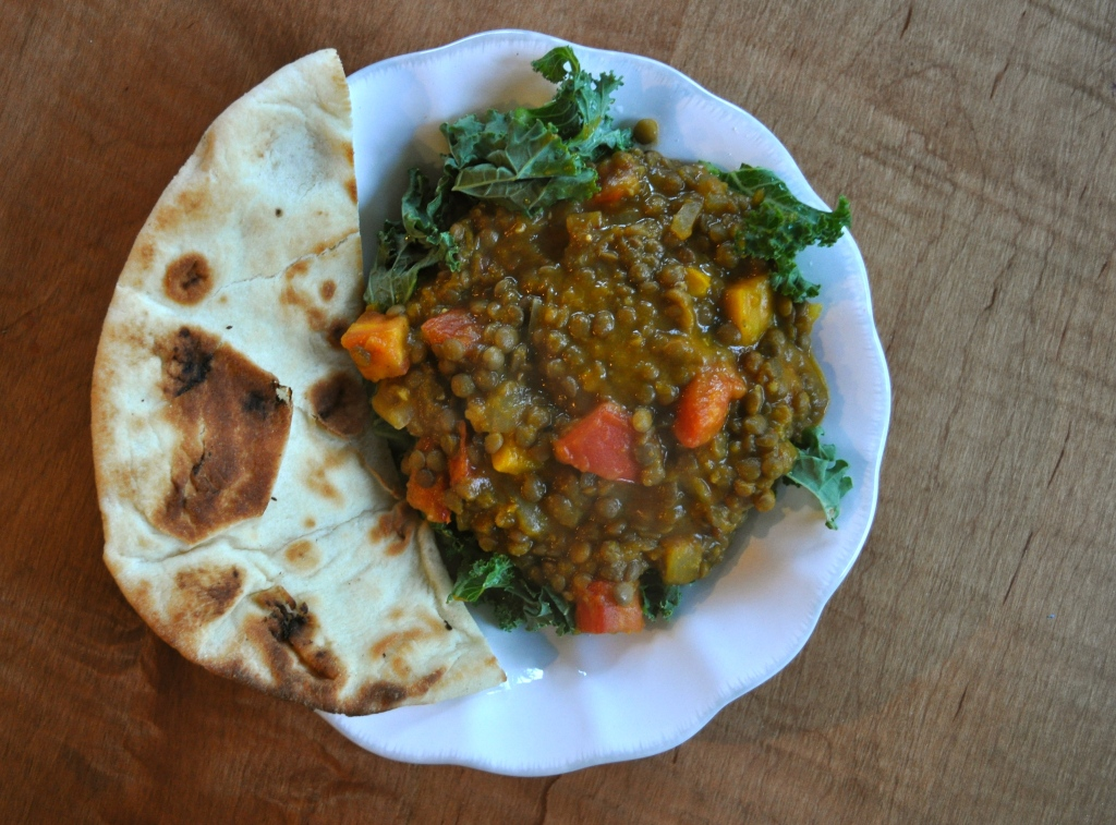 kabocha squash lentil curry