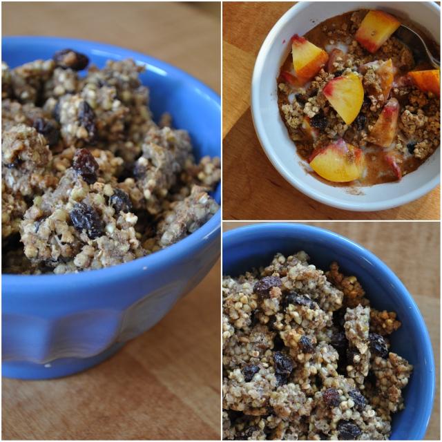 tahini buckwheat granola